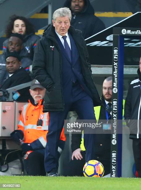 Crystal Palace manager Roy Hodgson during Premier League match between Crystal Palace and Burnley at Selhurst Park Stadium London England on 16 Jan...