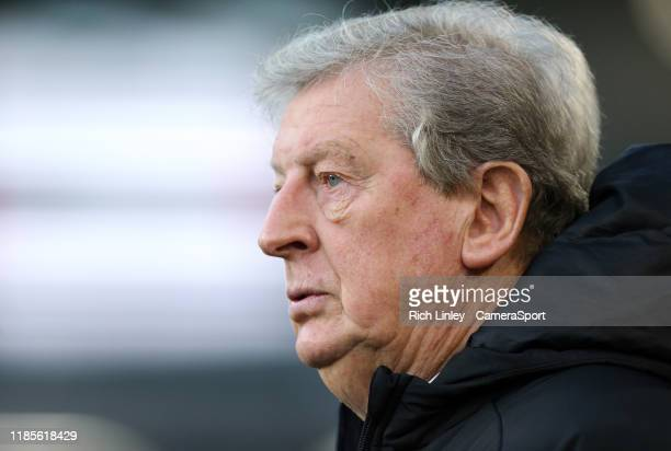 Crystal Palace manager Roy Hodgson during the Premier League match between Burnley FC and Crystal Palace at Turf Moor on November 30 2019 in Burnley...