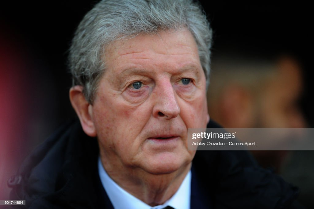 Crystal Palace manager Roy Hodgson during the Premier League match between Crystal Palace and Burnley at Selhurst Park on January 13, 2018 in London, England.