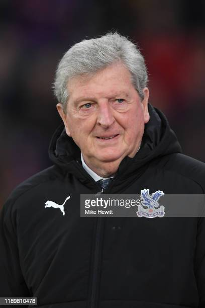 Crystal Palace manager Roy Hodgson looks on during the Premier League match between Crystal Palace and Liverpool FC at Selhurst Park on November 23...