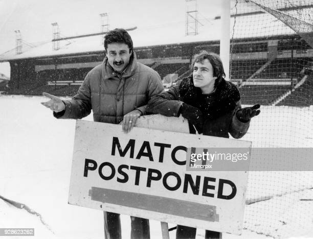 Crystal Palace manager Steve Coppell and assistant Ian Evans at Selhurst Park after the FA Cup match against Millwall was called off due to snow 15th...