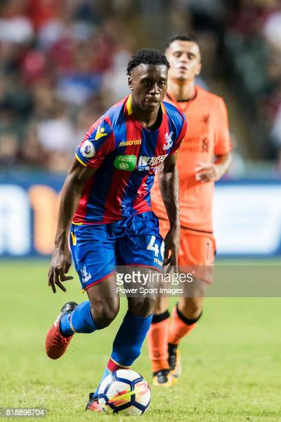 Crystal Palace midfielder Aaron WanBissaka in action during the Premier League Asia Trophy match between Liverpool FC and Crystal Palace FC at Hong...