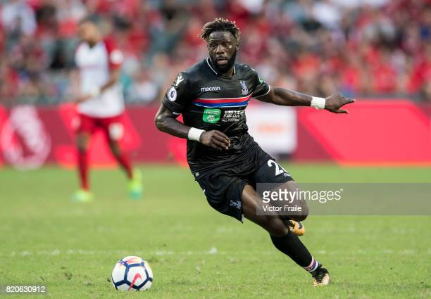 Crystal Palace midfielder Bakary Sako in action during the Premier League Asia Trophy match between West Brom and Crystal Palace at Hong Kong Stadium...