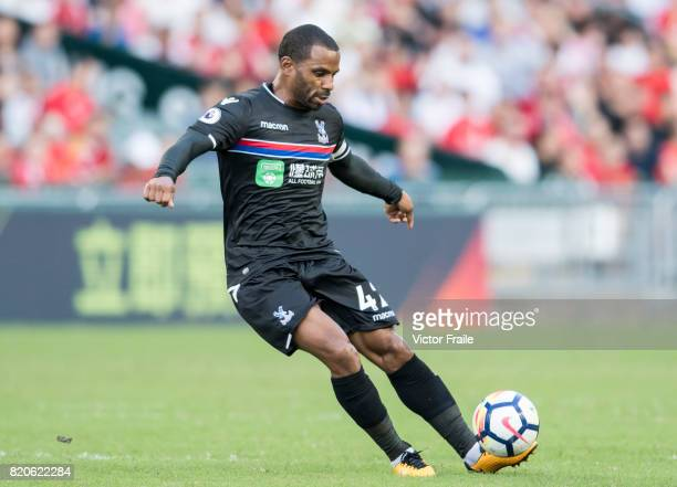 Crystal Palace midfielder Jason Puncheon in action during the Premier League Asia Trophy match between West Brom and Crystal Palace at Hong Kong...