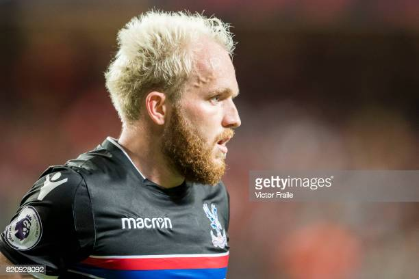 Crystal Palace midfielder Jonathan Williams looks on during the Premier League Asia Trophy match between West Brom and Crystal Palace at Hong Kong...