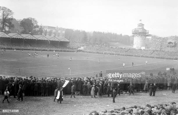 Crystal Palace panorama of the 1914 Cup Final between Burnley and Liverpool Burnley won 10