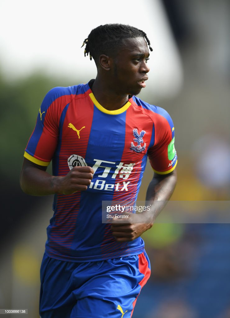 Crystal palace player Aaron Wan-Bissaka in action during a Pre-Season Friendly match between Oxford United and Crystal Palce at Kassam Stadium on July 21, 2018 in Oxford, England.