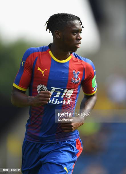 Crystal palace player Aaron Wan-Bissaka in action during a Pre-Season Friendly match between Oxford United and Crystal Palce at Kassam Stadium on...
