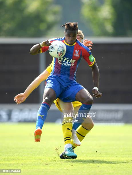 Crystal Palace player Andros Townsend in action during a PreSeason Friendly match between Oxford United and Crystal Palce at Kassam Stadium on July...