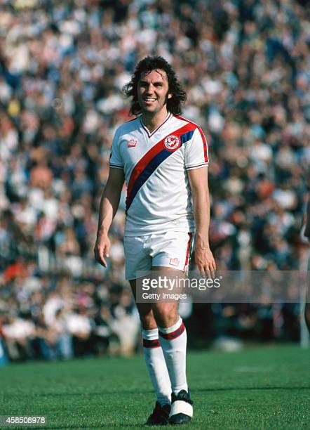 Crystal Palace player Gerry Francis raises a smile during a match in 1979 Francis played over 50 games for Palace between 1979 and 1981