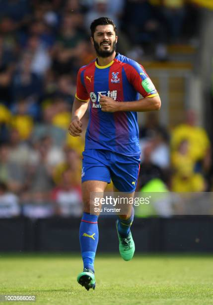 Crystal palace player James Tomkins in action during a PreSeason Friendly match between Oxford United and Crystal Palce at Kassam Stadium on July 21...