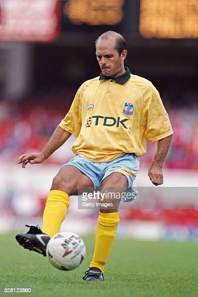 Crystal Palace player Ray Wilkins in action during the Tony Adams testimonial at Highbury on August 13 1994 in London England