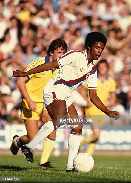 Crystal Palace player Vince Hilaire in action during a League Division Two match against Brighton and Hove Albion at Selhurst Park on October 7 1978...