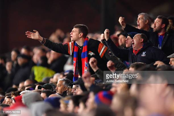 Crystal Palace react during the Premier League match between Crystal Palace and Liverpool FC at Selhurst Park on November 23 2019 in London United...