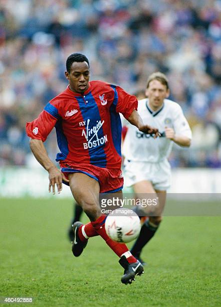 Crystal Palace striker Ian Wright in action during a League Division One match between Crystal Palce and Manchester City at Selhurst Park on March 30...