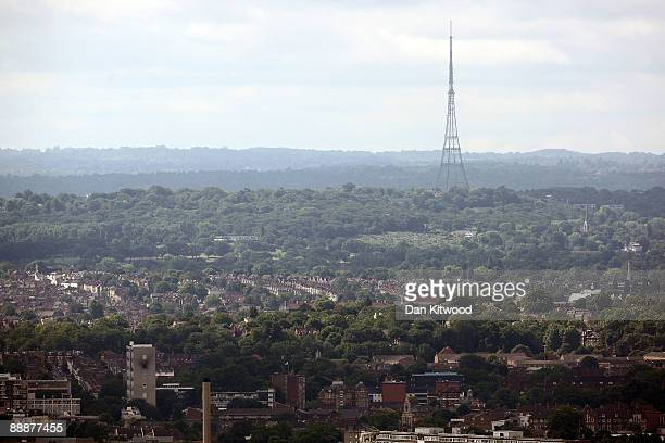 Crystal Palace Tower stands as seen from the roof of Cromwell Tower on the Barbican Estate on July 7, 2009 in London, England. Many of London's...