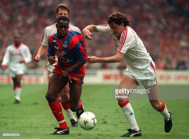 Crystal Palace v Manchester UnitedThe FA Cup Final 1990 Crystal Palace 3 Manchester United 3 Draw Picture Shows Ian Wright for Crystal Palace and...