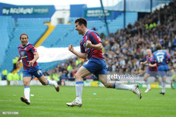 Crystal Palace's Alan Lee celebrates scoring their first goal of the game