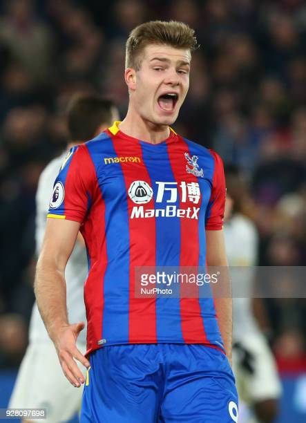 Crystal Palace's Alexander Sorloth during the Premiership League match between Crystal Palace and Manchester United at Selhurst Park Stadium in...