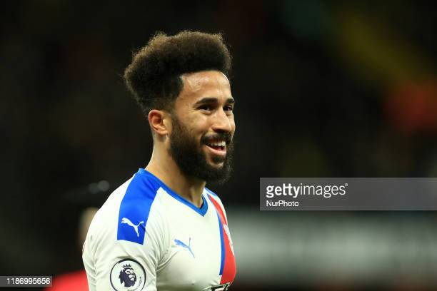 Crystal Palaces Andros Townsend during the Premier League match between Watford and Crystal Palace at Vicarage Road, Watford on Saturday 7th December...