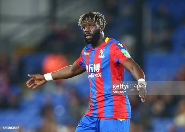 Crystal Palace's Bakary Sako during Carabao Cup 3rd Round match between Crystal Palace and Huddersfield Town at Selhurst Park Stadium London England...