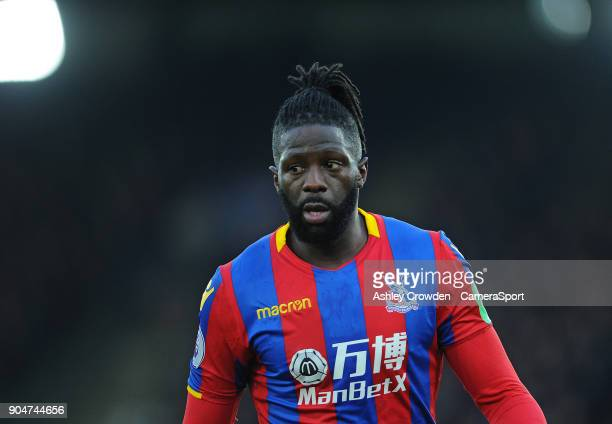 LONDON ENGLAND JANUARY Crystal Palace's Bakary Sako during the Premier League match between Crystal Palace and Burnley at Selhurst Park on January 13...