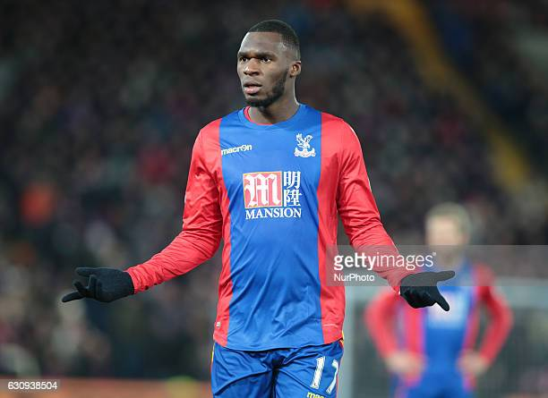 Crystal Palace's Christian Benteke during the Premier League match between Crystal Palace and Swansea City at Selhurst Park London England on 3 Jan...