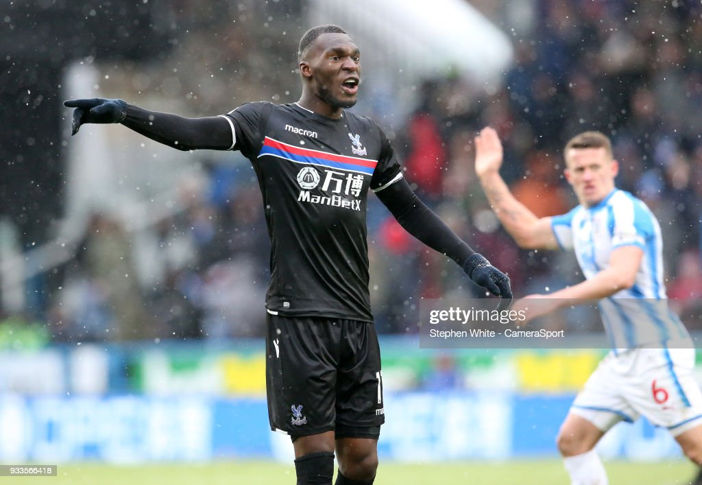 Crystal Palace's Christian Benteke during the Premier League match between Huddersfield Town and Crystal Palace at John Smith's Stadium on March 17, 2018 in Huddersfield, England.