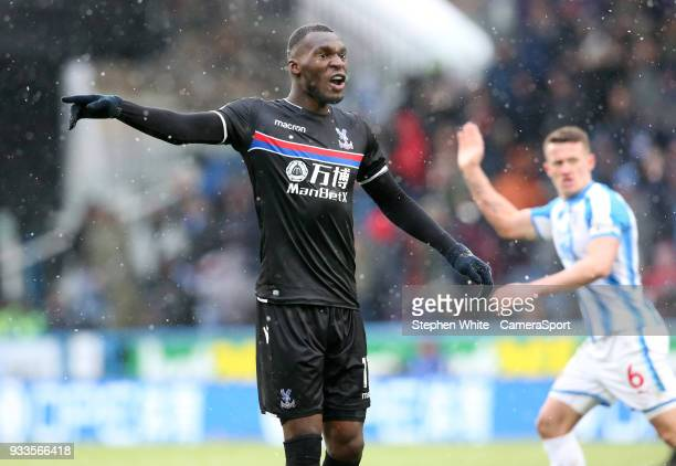 Crystal Palace's Christian Benteke during the Premier League match between Huddersfield Town and Crystal Palace at John Smith's Stadium on March 17...
