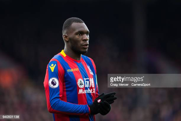 Crystal Palace's Christian Benteke during the Premier League match between Crystal Palace and Liverpool at Selhurst Park on March 31 2018 in London...