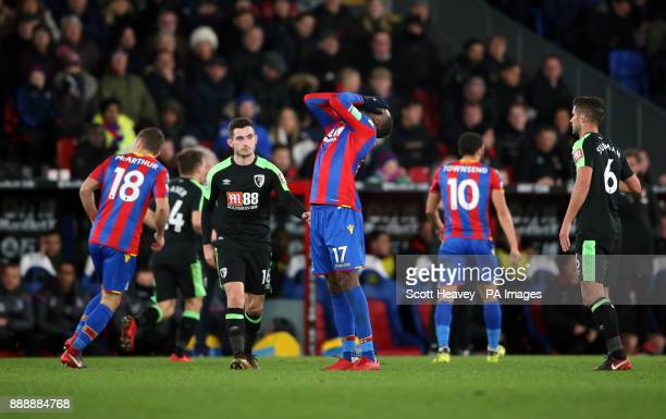 Crystal Palace's Christian Benteke looks dejected during the Premier League match at Selhurst Park London