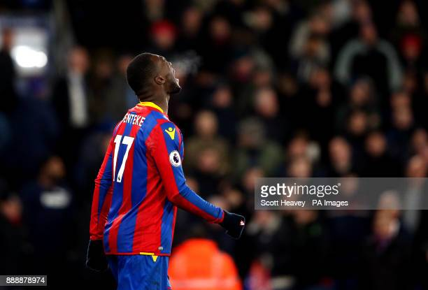 Crystal Palace's Christian Benteke rues his penalty miss during the Premier League match at Selhurst Park London