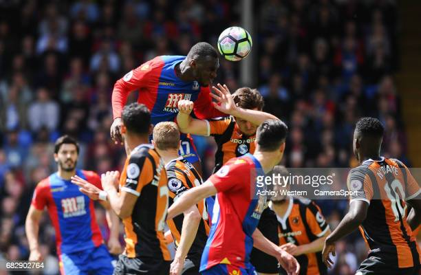 Crystal Palace's Christian Benteke scores his sides second goal during the Premier League match between Crystal Palace and Hull City at Selhurst Park...