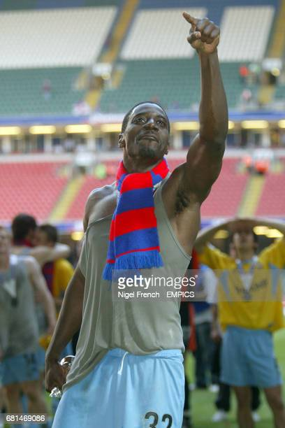 Crystal Palace's Darren Powell celebrates after the final whistle
