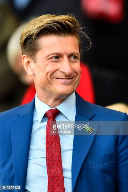 Crystal Palace's English cochairman Steve Parish is seen in the crowd during the English Premier League football match between Bournemouth and...