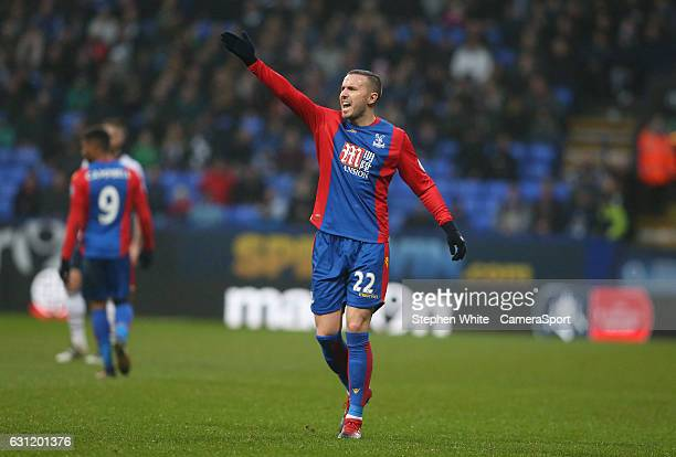 Crystal Palace's Jordon Mutch during the Emirates FA Cup Third Round match between Bolton Wanderers and Crystal Palace at Macron Stadium on January 7...