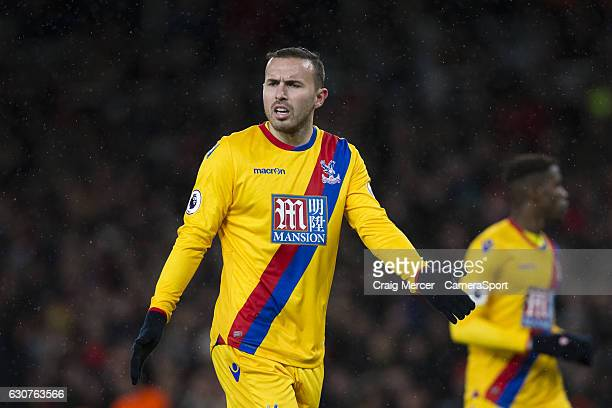 Crystal Palace's Jordon Mutch reacts during the Premier League match between Arsenal and Crystal Palace at Emirates Stadium on January 1 2017 in...