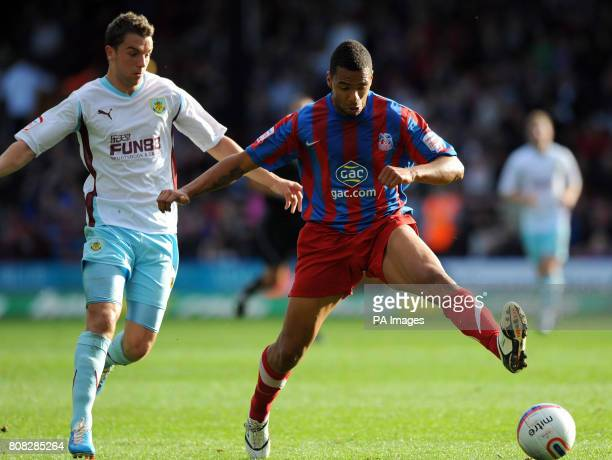 Crystal Palace's Julian Bennett and Burnley's Jay Rodriguez during the npower Football League Championship match at Selhurst Park London