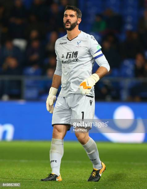 Crystal Palace's Julian Speroni during Carabao Cup 3rd Round match between Crystal Palace and Huddersfield Town at Selhurst Park Stadium London...