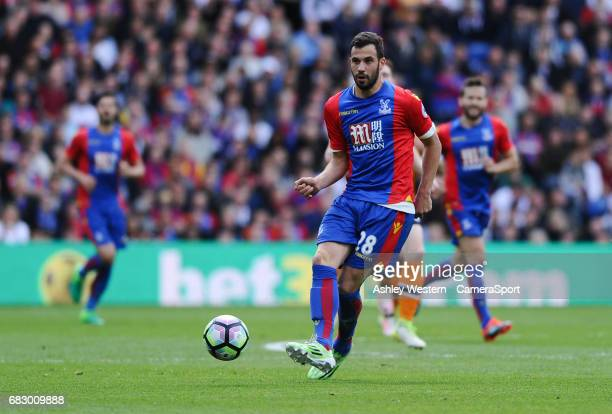 Crystal Palace's Luka Milivojevic in action during the Premier League match between Crystal Palace and Hull City at Selhurst Park on May 14 2017 in...