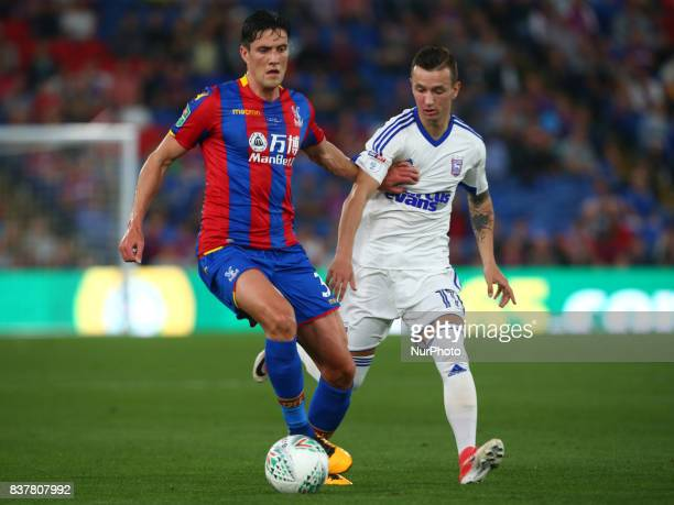 Crystal Palace's Martin Kelly during Carabao Cup 2nd Round match between Crystal Palace and Ipswich Town at Selhurst Park Stadium London England on...