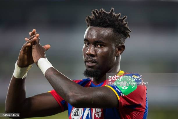 Crystal Palace's Pape N'Diaye Souare applauds the fans at the final whistle during the Carabao Cup Third Round match between Crystal Palace and...