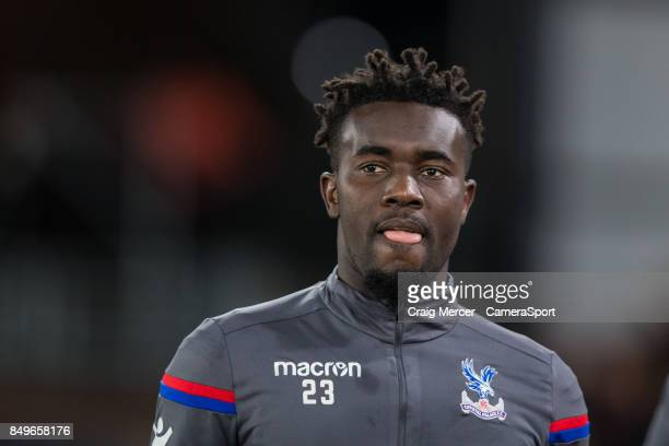 Crystal Palace's Pape N'Diaye Souare arrives during the Carabao Cup Third Round match between Crystal Palace and Huddersfield Town at Selhurst Park...