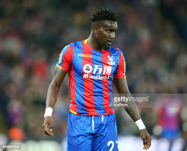Crystal Palace's Pape N'Diaye Souare during Carabao Cup 3rd Round match between Crystal Palace and Huddersfield Town at Selhurst Park Stadium London...