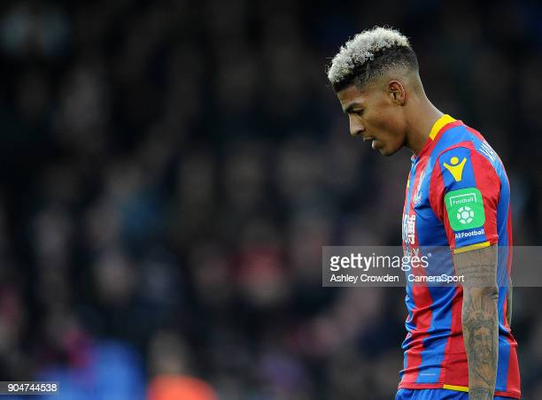 Crystal Palace's Patrick van Aanholt during the Premier League match between Crystal Palace and Burnley at Selhurst Park on January 13 2018 in London...