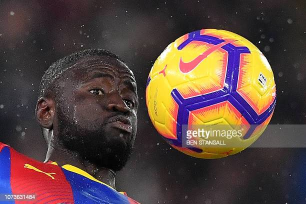 Crystal Palace's Senegalese midfielder Cheikhou Kouyate controls the ball during the English Premier League football match between Crystal Palace and...
