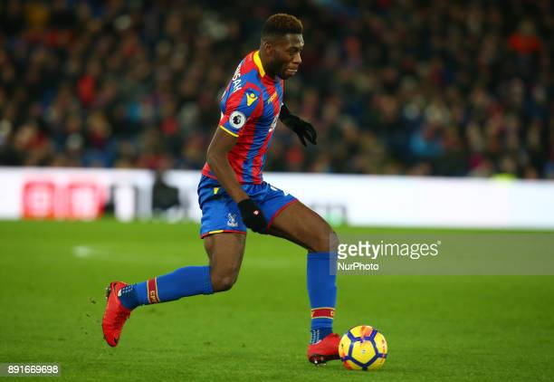 Crystal Palace's Timothy FosuMensah during Premier League match between Crystal Palace and Watford at Selhurst Park Stadium London England 12 Dec 2017