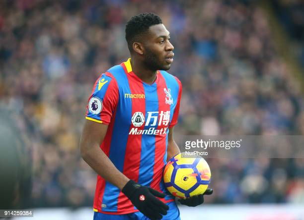 Crystal Palace's Timothy FosuMensah during Premier League match between Crystal Palace and Newcastle United at Selhurst Park Stadium London England...