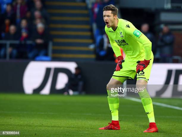 Crystal Palace's Wayne Hennessey during Premier League match between Crystal Palace and Stoke City at Selhurst Park Stadium London England on 25 Nov...