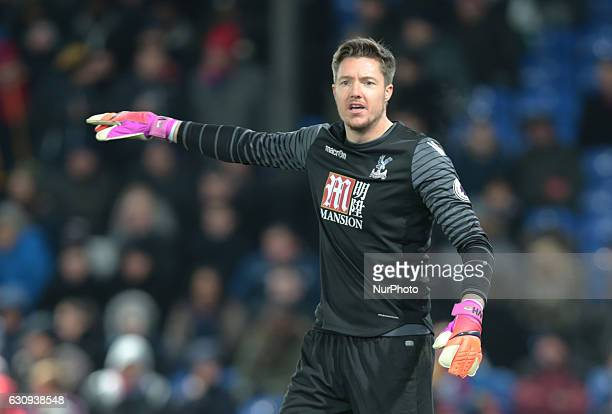 Crystal Palace's Wayne Hennessey during the Premier League match between Crystal Palace and Swansea City at Selhurst Park London England on 3 Jan 2017
